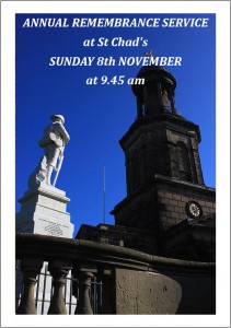 Annual Remembrance Service at St Chad's